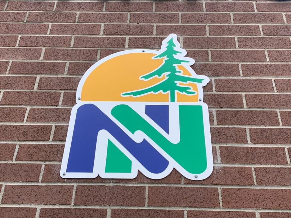 20210606 Near north school board logo on school wall turl