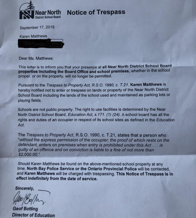 karen matthews letter redacted 2