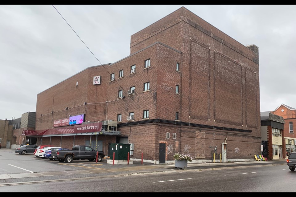 The McIntyre St. side of the Capitol Centre will have a giant mural painted on it. Jeff Turl/BayToday.