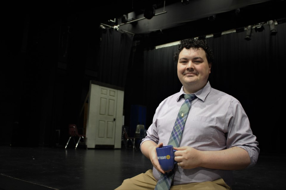 Joshua Pride directs the Summer Challenge program and is passionate about local theatre. Photo by Ryen Veldhuis.