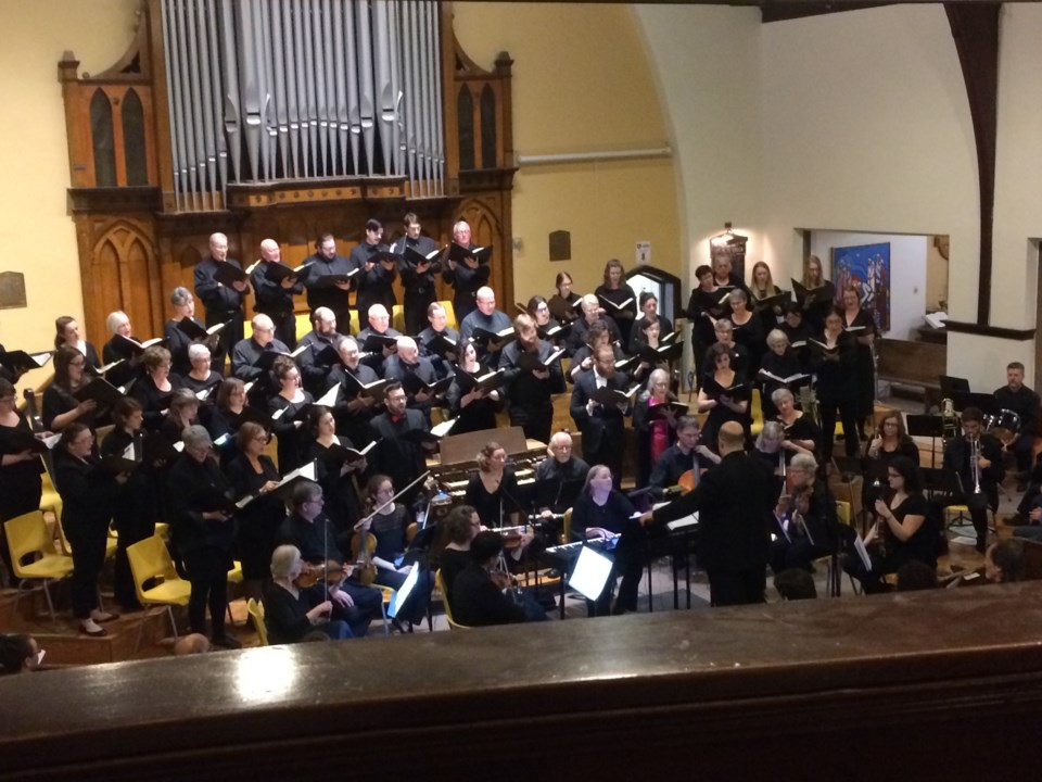 near north voices Messiah concert 2, from balcony