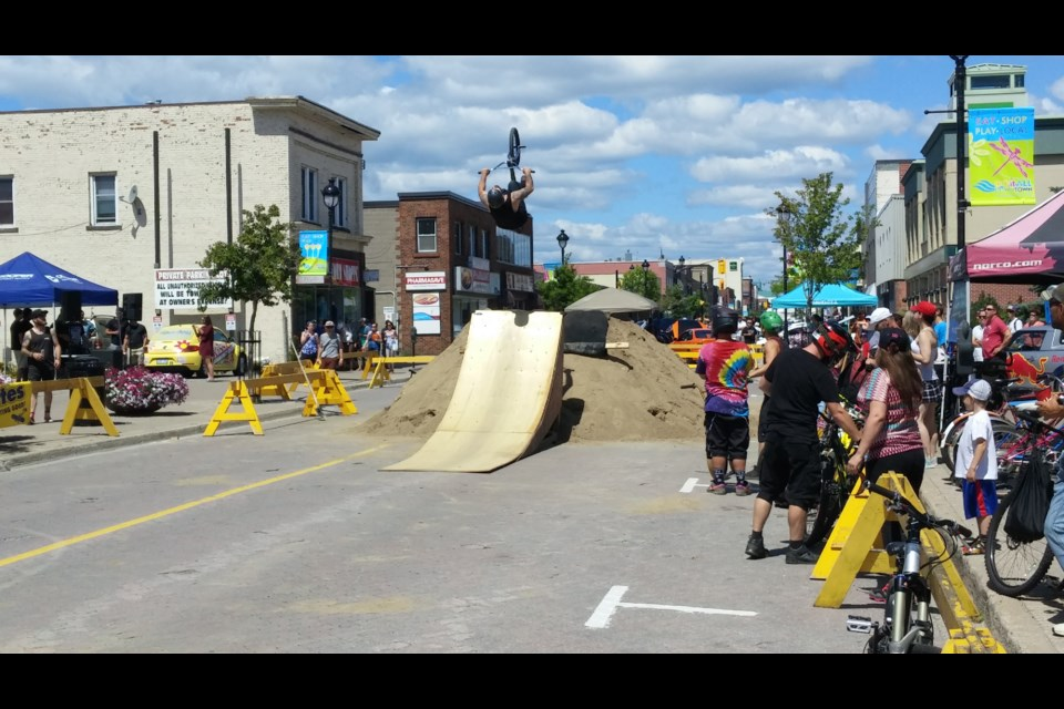 The Mayhem on Main BMX competition