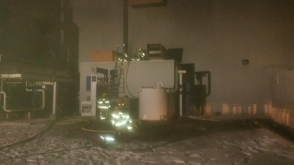 20201104 structure fire power plant