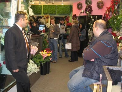 a visit to the florist