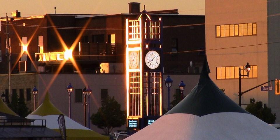 golden clock tower