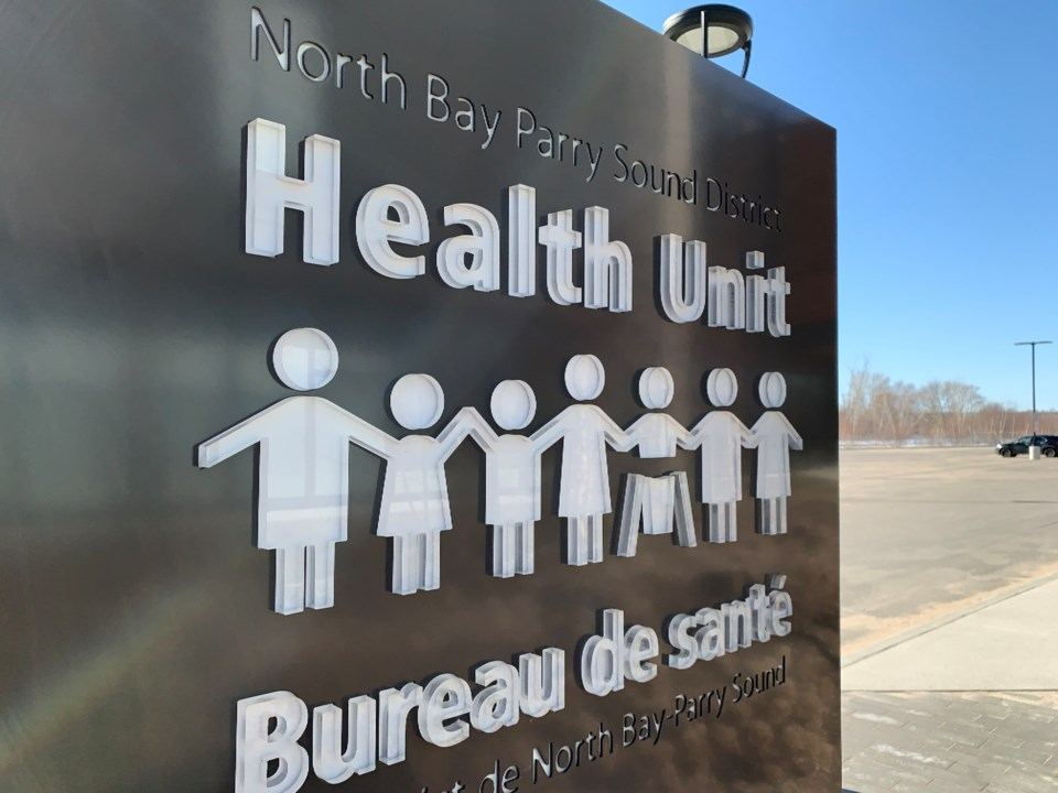 20200325 north bay parry sound district health unit sign turl