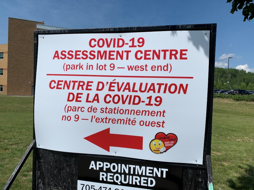 20200909 covid assessment centre sign turl
