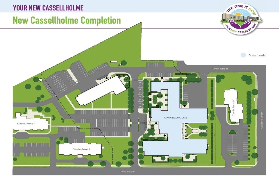 Drawing of the final phase of the Cassellholme redevelopment.