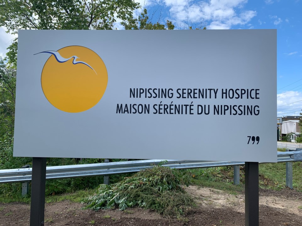 20210303 Nipissing Serenity Hospice sign turl