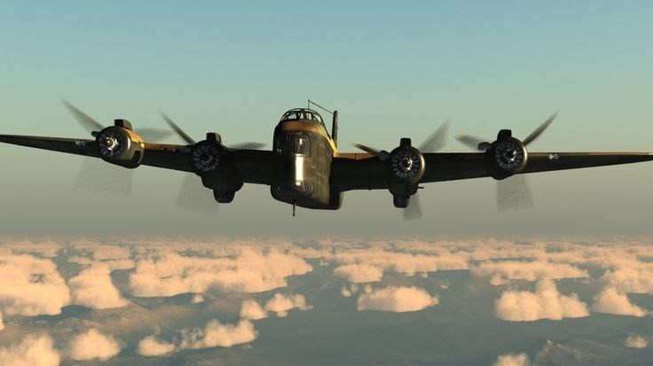 A Stirling Bomber like this was shot down over Germany in 1943. Researchers think the family may be living in the North Bay- Huntsville area. Submitted photo.