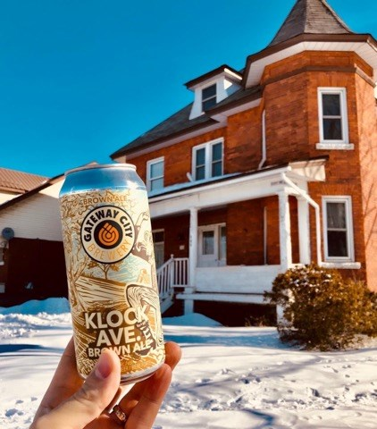 The Klock Ave. Beer in front of a house bearing its namesake. Photo provided by Sully Sullivan.