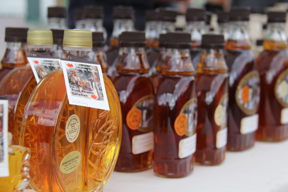 170525 10 Maple syrup for sale at the Powassan Maple Syrup Festival. Photo by Brenda Turl for BayToday.