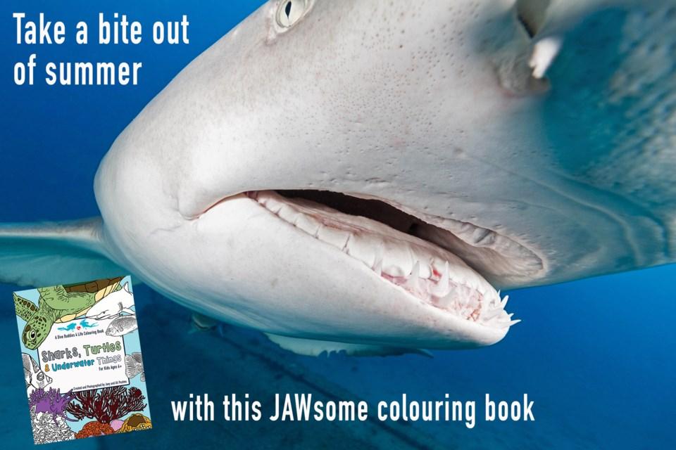 JAWsome-Colouring-Book