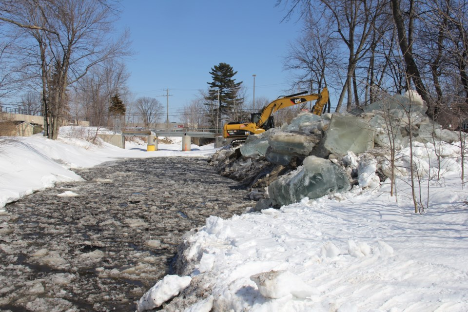parks creek ice removal turl 2015