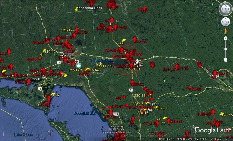 Sasquatch North Bay Map