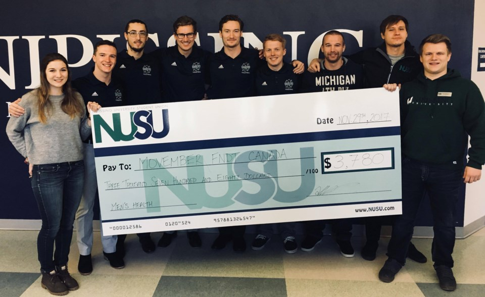 20171130 nipissing university movember cheque
