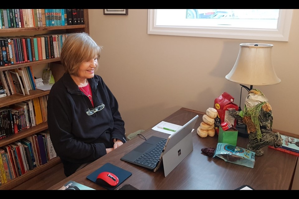North Bay author Heather Stemp is currently working on her third book in the Ginny Ross series. Supplied.