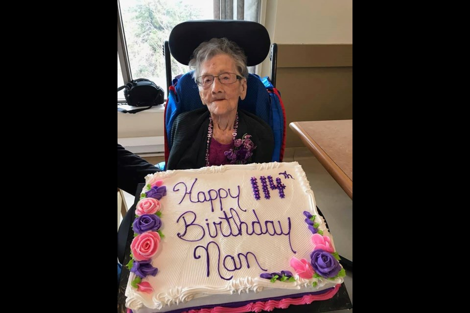 Dolly Gibb is 114 years old. Courtesy Vic Fedeli.