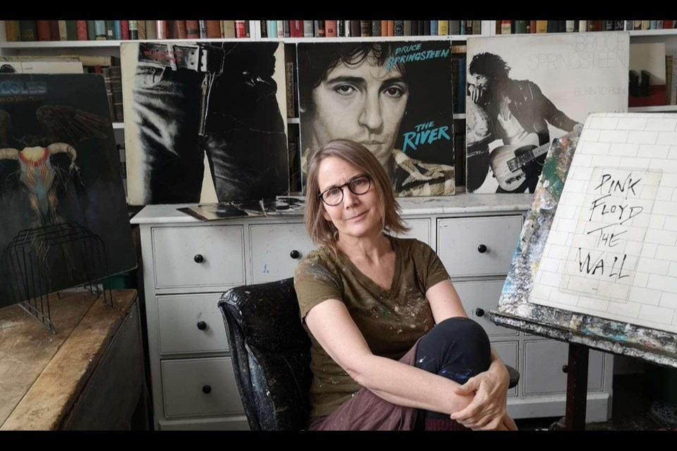 Holly Farrell in her home studio. Photo by Steven Naylor.