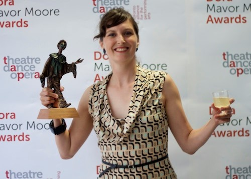 2014: After winning the Dora Mavor Moore award for Outstanding Female Performance in the Dance category. Photo provided by Kate Franklin.