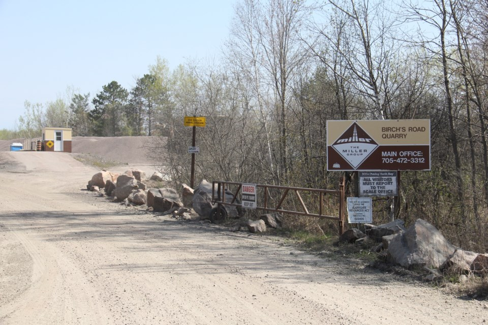 20180516 birch's road explosion miller paving quarry sign turl