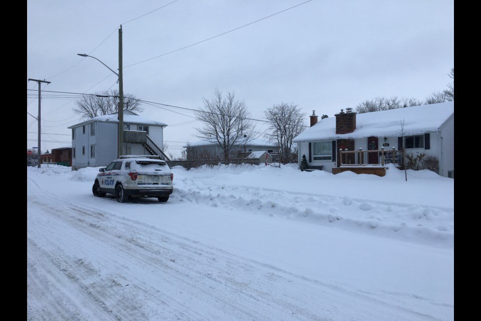 Beattie and Vimy, the site of a murder investigation today after a shooting last night. Chris Dawson/BayToday.