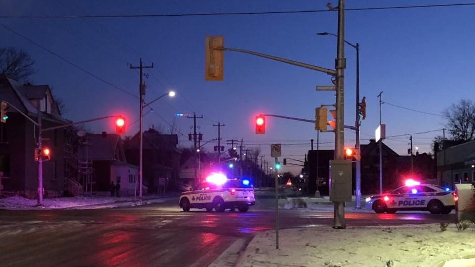 20191107 police block Main St