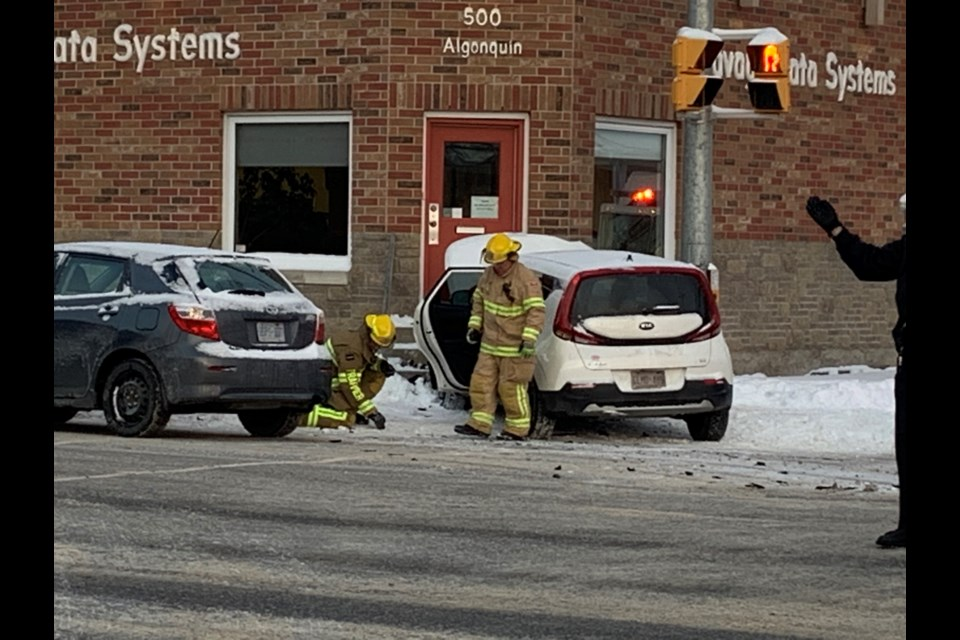 This accident sent at least one person to hospital. Chris Dawson/BayToday.