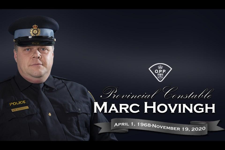 Provincial Constable Marc HOVINGH. Supplied.