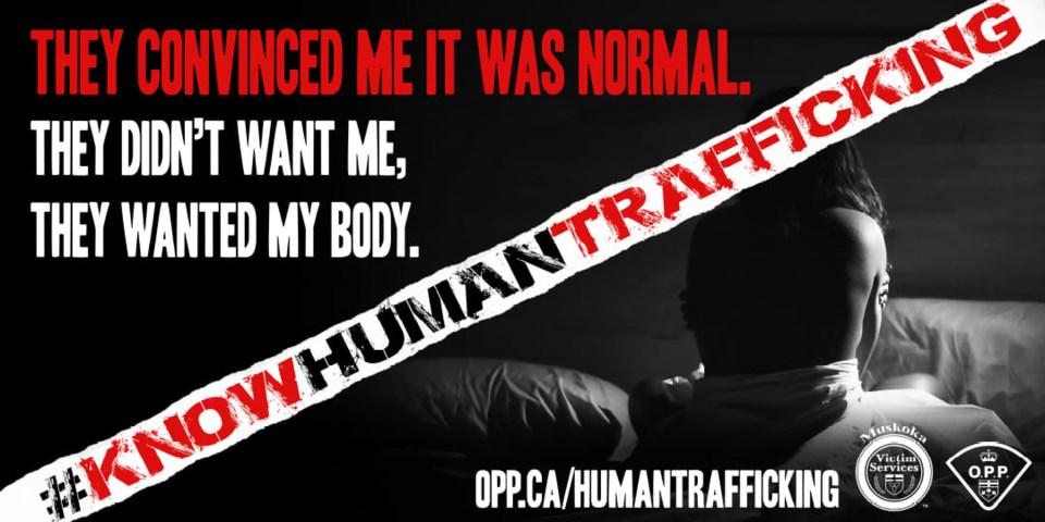 2021 OPP human trafficking billboard