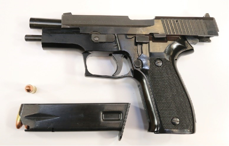 Handgun believed to have been used during the Morin St. shooting. Courtesy NBPS.