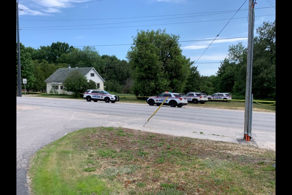 Police are investigating an incident on Ski Club Road. Chris Dawson/BayToday.