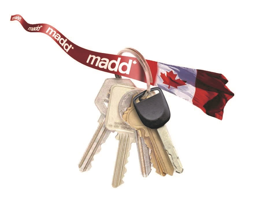 MADD red ribbon ride impaired driving police 2016