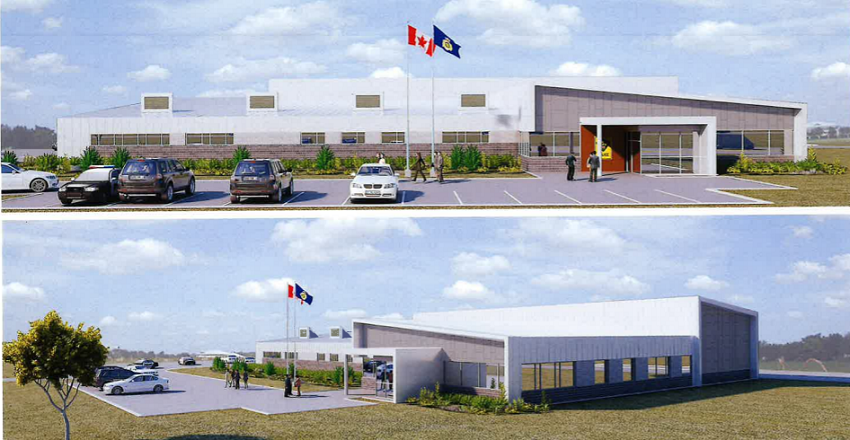 Renderings of the new Nipissing West OPP building. Courtesy of Formworks Inc., supplied by the Municipality of West Nipissing.