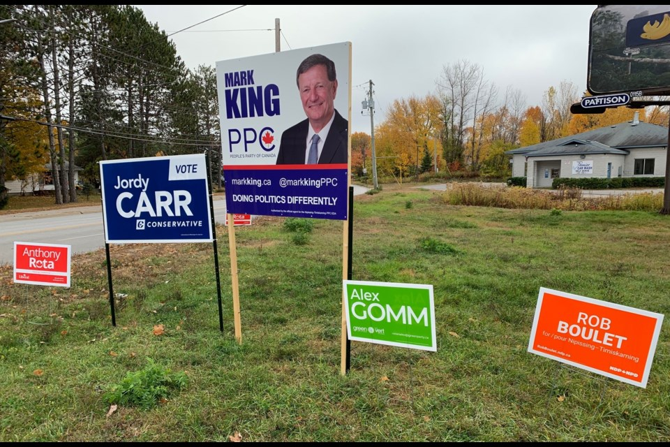 Five candidates are running in Nipissing-Temiskaming.