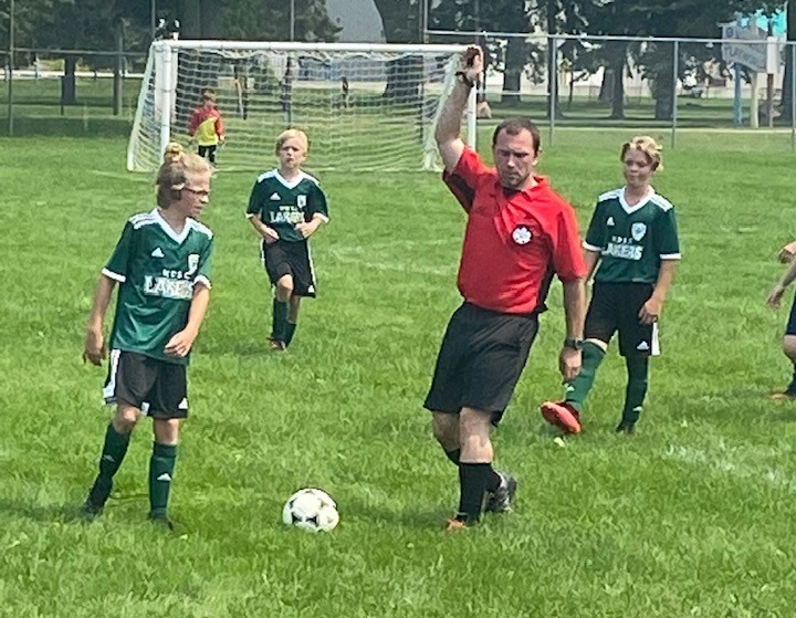 U11 Lakers boys soccer team against a team from Barrie at Amelia Field in North Bay.  Photo courtesy Facebook.