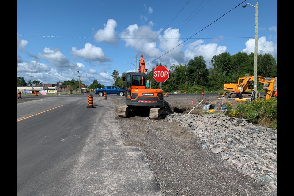 Rehabilitation of the Highway 94 -  Callander Bay Drive intersection  is well underway. Jeff Turl/BayToday.