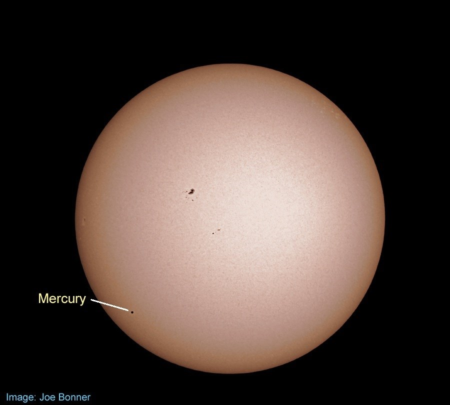2019  mercury transit of sun joe bonner