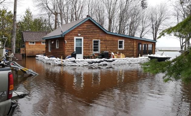 20190521 lake nipissing jocko point flooded home neil brown