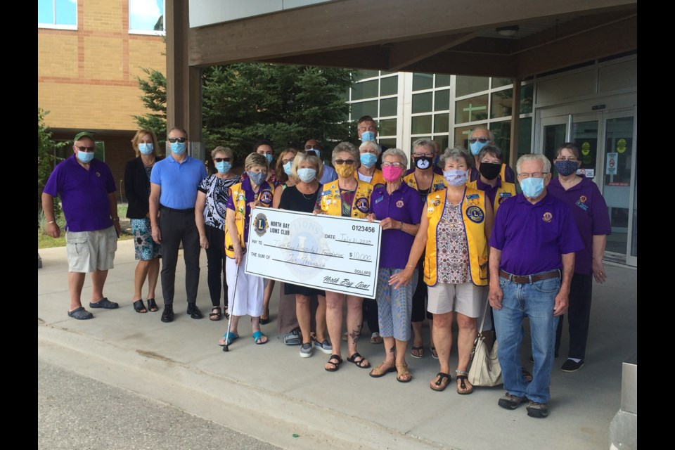 North Bay Lions Club presented a $10,000 cheque to the NBRHC Ophthalmology Clinic 