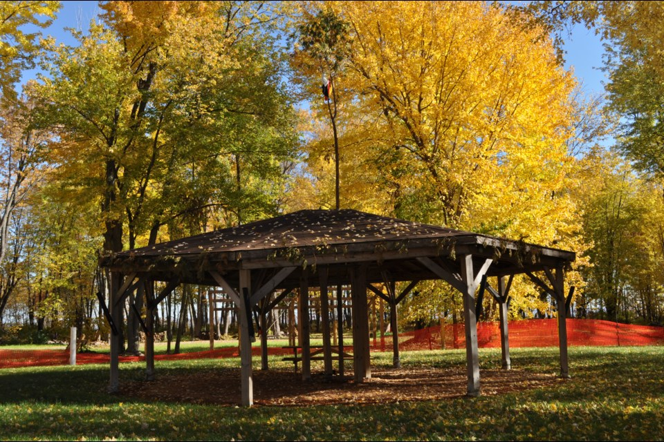 An autumnal image of one of the properties under the stewardship of the beautification crew / Photo Supplied