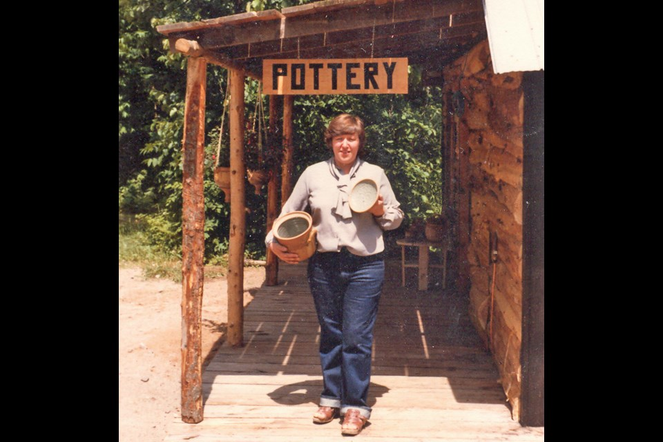 Rockcliffe Pottery and Craft Studio opening day, June 1981.