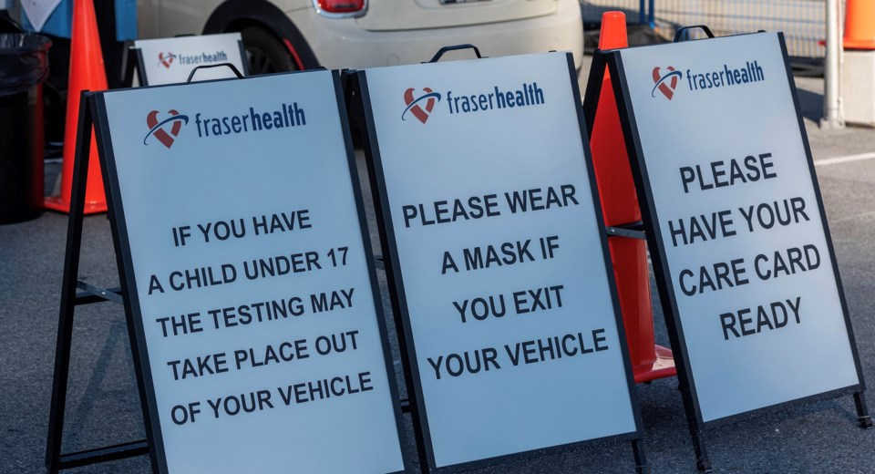 Fraser Health COVID signage