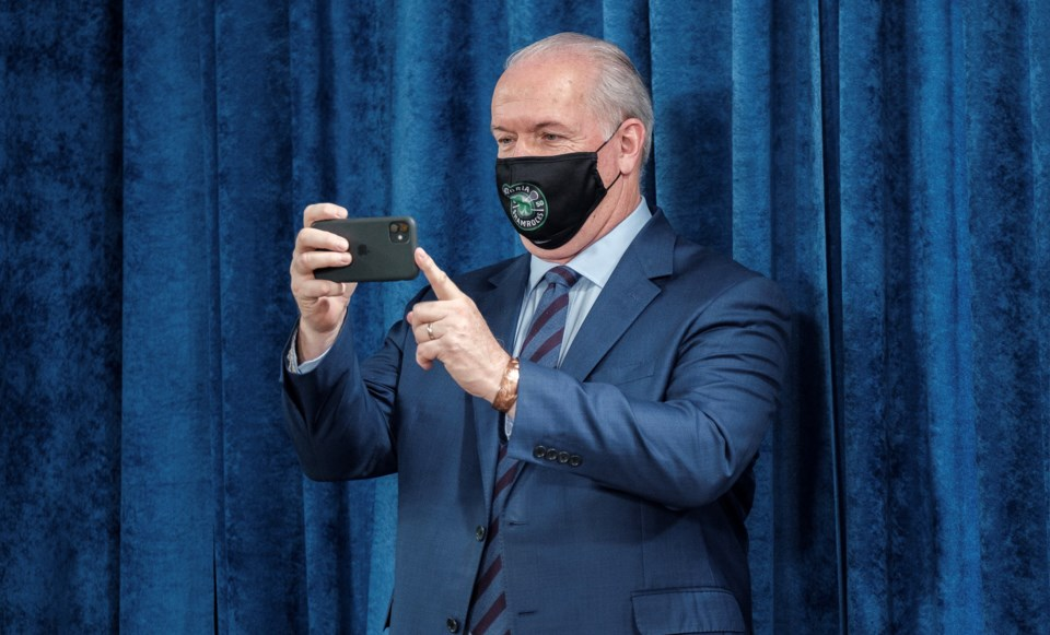 Horgan mask selfie