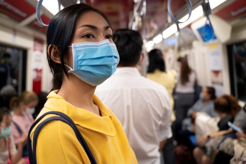 Mask on transit - Seksan MongkhonkhamsaoGetty images