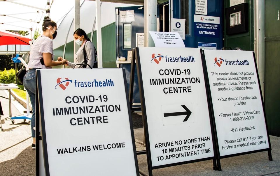Vaccination clinic Fraser Health - cc