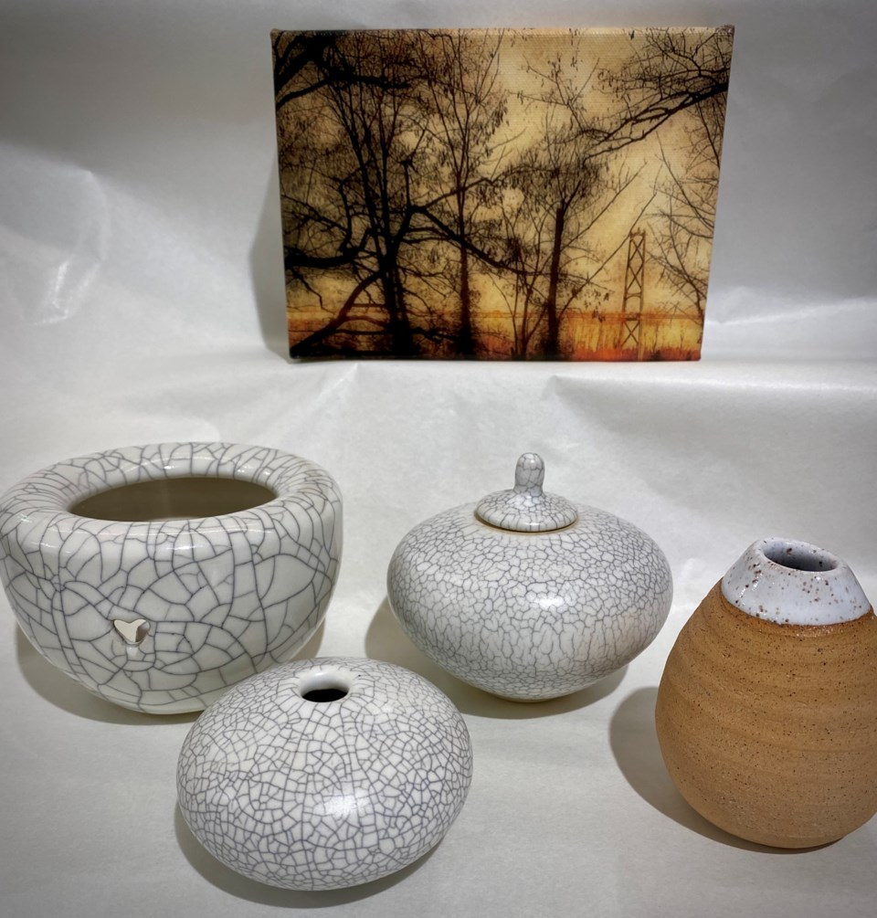 Pottery by Babette Degan, Giclee prints by Jacqueline Massey