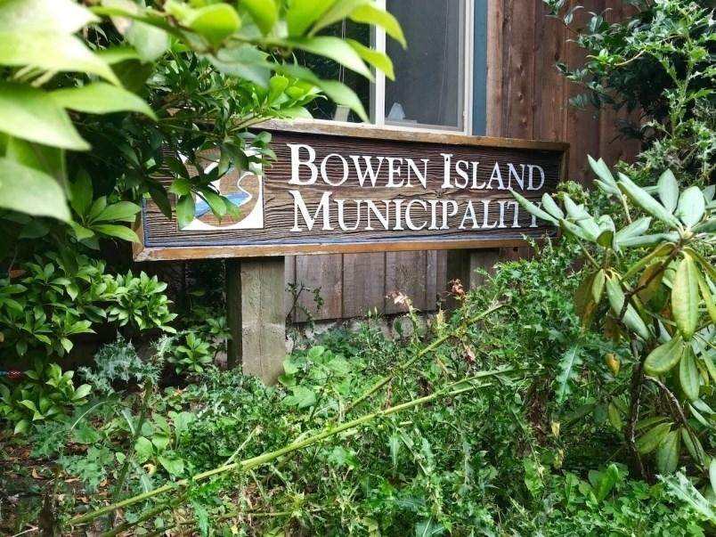 Bowen Island Municipality sign