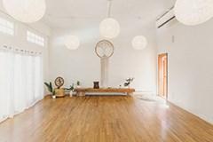 Inside of the empty Well yoga studio