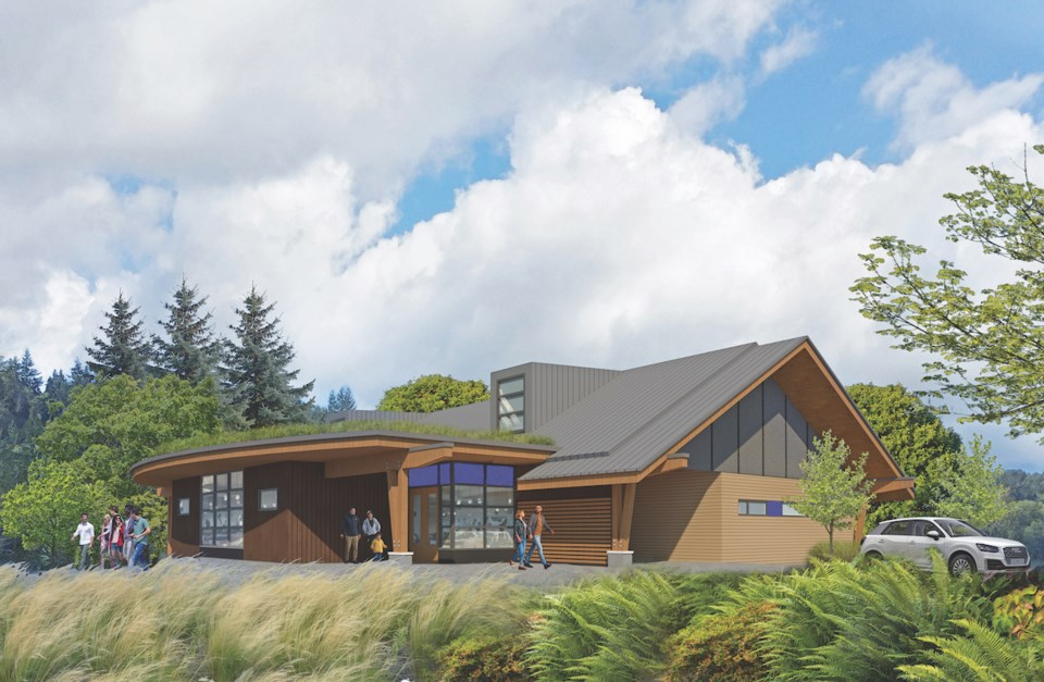 Perspective shot of the Bowen Island Health Centre